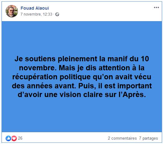 soutien fouad alaoui manf 10-11-19